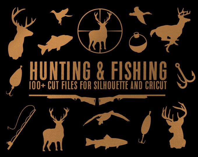 hunting deer duck fishing bundle silhouette svg dxf file instant download silhouette cameo cricut downloads clip art commercial use
