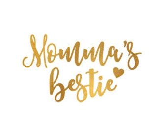 mommas bestie gold foil clip art svg dxf file instant download silhouette cameo cricut digital scrapbooking commercial use