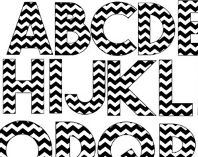 chevron letters a-z pattern svg dxf file instant download silhouette cameo cricut downloads clip art commercial use
