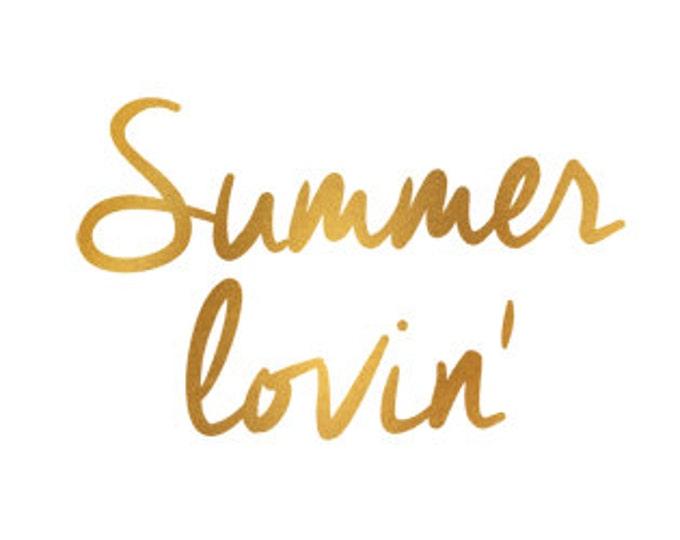 summer lovin gold foil clip art svg dxf jpeg png file instant download stencil monogram frame silhouette cameo cricut commercial use