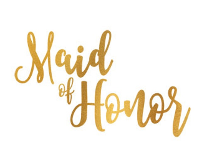 maid of honor gold foil clip art svg dxf file instant download silhouette cameo cricut digital scrapbooking