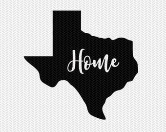 texas home  svg dxf jpeg png file stencil monogram frame silhouette cameo cricut clip art commercial use