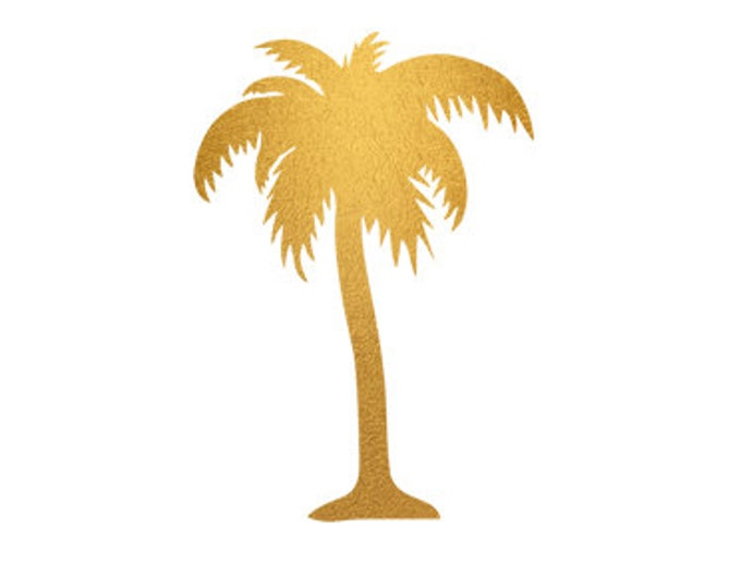 palm tree gold foil clip art svg dxf file instant download silhouette cameo cricut digital scrapbooking commercial use