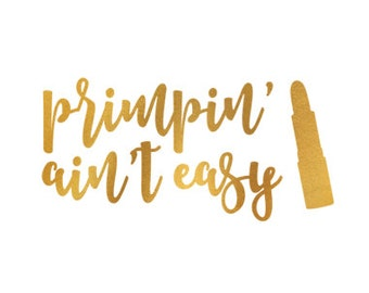 primpin aint easy gold clip art svg dxf file instant download silhouette cameo cricut download digital scrapbooking commercial use