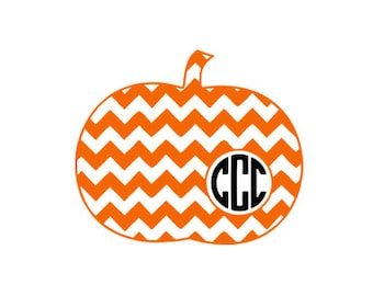 chevron pumpkin monogram frame pattern svg dxf file instant download stencil silhouette cameo cricut clip art commercial use