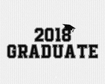2018 graduate svg dxf file instant download silhouette cameo cricut clip art commercial use