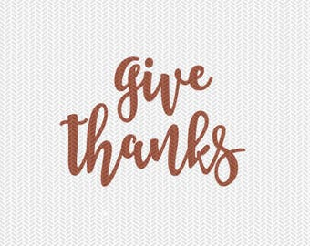 give thanks svg dxf file instant download silhouette cameo cricut clip art commercial use