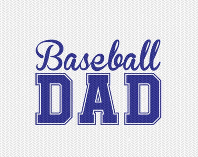 baseball dad svg dxf file instant download silhouette cameo cricut downloads clip art