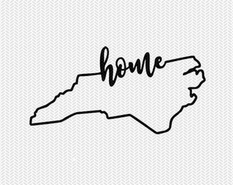 north carolina home svg dxf file instant download stencil silhouette cameo cricut downloads cut file downloads clip art commercial use