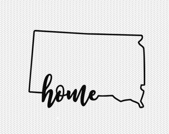 south dakota home svg dxf file instant download stencil silhouette cameo cricut downloads cut file downloads clip art commercial use