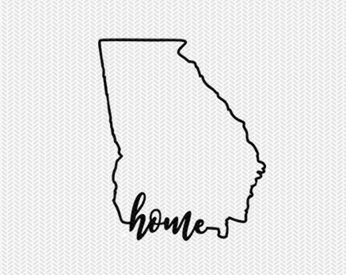 georgia home svg dxf file instant download stencil silhouette cameo cricut downloads cut file downloads clip art commercial use