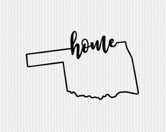 oklahoma home svg dxf file instant download stencil silhouette cameo cricut downloads cut file downloads clip art commercial use