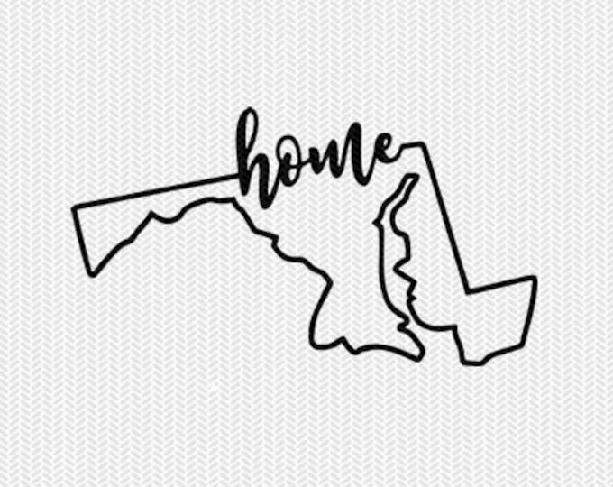 maryland home svg dxf file instant download stencil silhouette cameo cricut downloads cut file downloads clip art commercial use