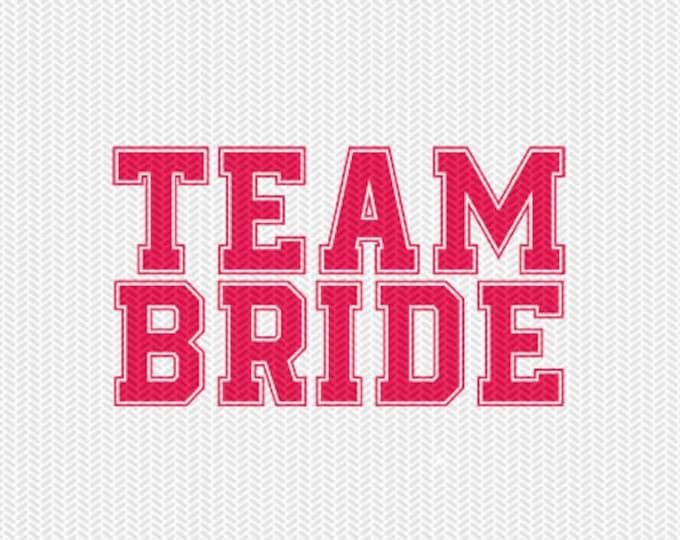 team bride svg dxf file instant download silhouette cameo cricut downloads clip art