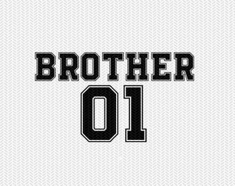 brother 01 svg dxf file instant download silhouette cameo cricut clip art commercial use