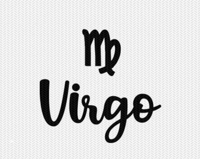 virgo zodiac astrology svg dxf file instant download silhouette cameo cricut clip art commercial use cricut downloads