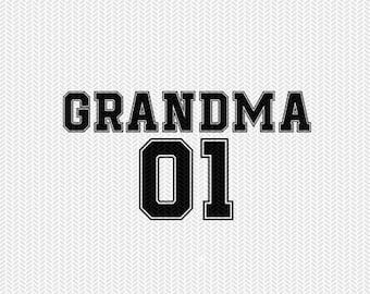 grandma 01 sports  dxf file instant download silhouette cameo cricut clip art commercial use