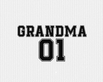 grandma 01 sports  dxf file instant download silhouette cameo cricut clip art commercial use