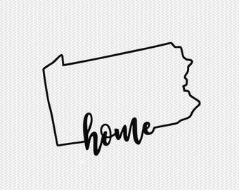 pennsylvania home svg dxf file instant download stencil silhouette cameo cricut downloads cut file downloads clip art commercial use