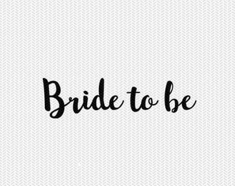 bride to be wedding svg dxf jpeg png file stencil monogram frame silhouette cameo cricut clip art commercial use