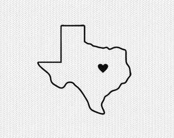 texas outline heart svg dxf file stencil silhouette cameo cricut downloads clip art commercial use