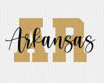 arkansas state svg dxf file instant download silhouette cameo cricut downloads clip art commercial use