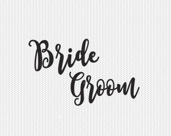 bride groom svg dxf file instant download silhouette cameo cricut clip art commercial use