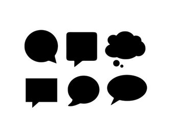 speech bubbles svg dxf jpeg png file instant download stencil monogram frame silhouette cameo cricut downloads clip art commercial use
