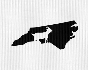 north carolina goat svg dxf file stencil instant download silhouette cameo cricut downloads clip art animals goat state svg dxf file