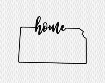 kansas home svg dxf file instant download stencil silhouette cameo cricut downloads cut file downloads clip art commercial use