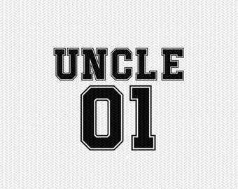 uncle 01 sports dxf file instant download silhouette cameo cricut clip art commercial use