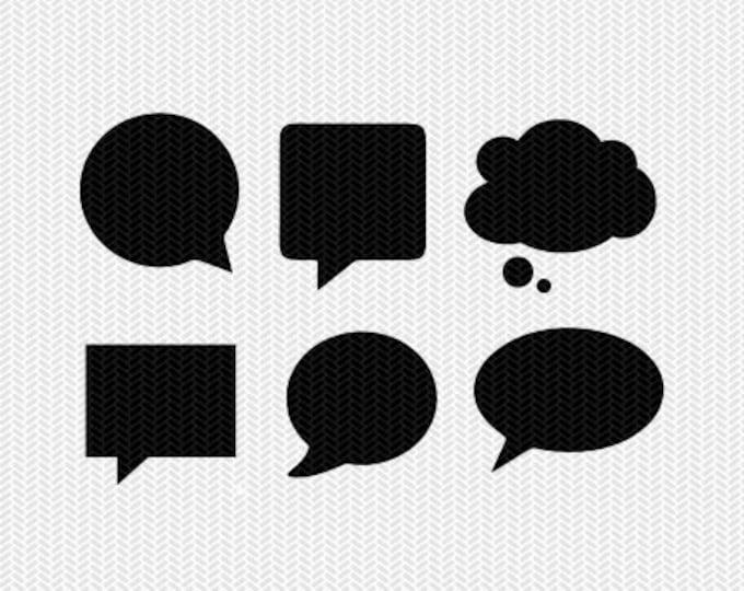speech bubbles svg dxf cut file instant download stencil monogram frame silhouette cameo cricut downloads clip art commercial use