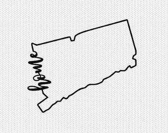 connecticut home svg dxf file instant download stencil silhouette cameo cricut downloads cut file downloads clip art commercial use