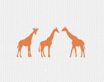 giraffes silhouette svg dxf file instant download silhouette cameo cricut clip art commercial use