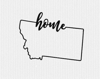 montana home svg dxf file instant download stencil silhouette cameo cricut downloads cut file downloads clip art commercial use