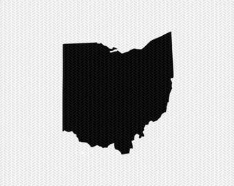 ohio svg dxf jpeg png file stencil monogram frame silhouette cameo cricut clip art commercial use