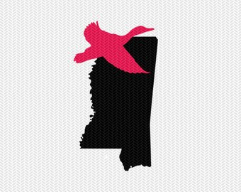 mississippi duck svg dxf jpeg png file stencil monogram frame silhouette cameo cricut clip art commercial use