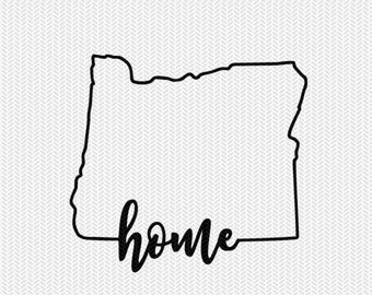 oregon home svg dxf file instant download stencil silhouette cameo cricut downloads cut file downloads clip art commercial use