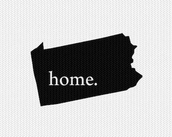 pennsylvania home svg dxf file stencil instant download silhouette cameo cricut downloads clip art home state svg dxf filepennsylvania