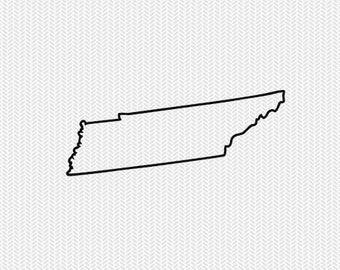 tennessee outline svg dxf file stencil silhouette cameo cricut clip art commercial use