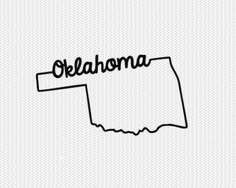 oklahoma svg dxf file instant download stencil silhouette cameo cricut downloads cut file downloads clip art commercial use