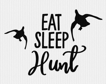 eat sleep hunt svg dxf file instant download silhouette cameo cricut downloads clip art commercial use