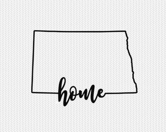north dakota home svg dxf file instant download stencil silhouette cameo cricut downloads cut file downloads clip art commercial use