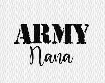 army nana military svg dxf file stencil silhouette cameo cricut clip art commercial use