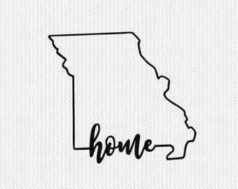 missouri home svg dxf file instant download stencil silhouette cameo cricut downloads cut file downloads clip art commercial use