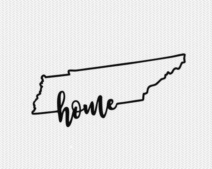 tennessee home svg dxf file instant download stencil silhouette cameo cricut downloads cut file downloads clip art commercial use