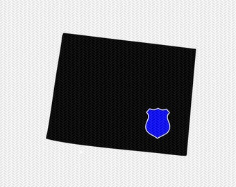 wyoming police svg dxf file stencil instant download silhouette cameo cricut downloads clip art state svg dxf file