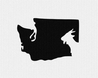 washington goat svg dxf file stencil instant download silhouette cameo cricut downloads clip art animals goat state svg dxf file