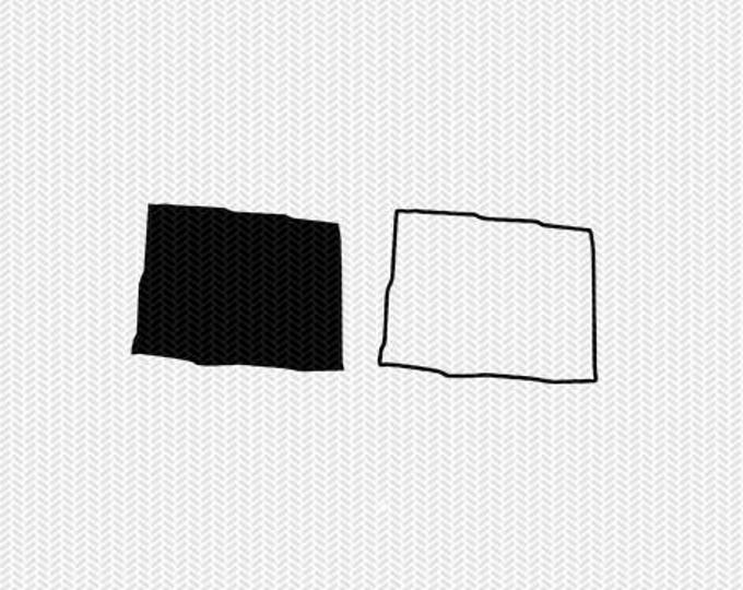 colorado state outline svg dxf file stencil monogram frame silhouette cameo cricut clip art commercial use