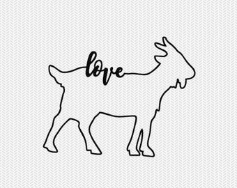 goat love svg dxf file instant download stencil silhouette cameo cricut downloads cut file clip art commercial use